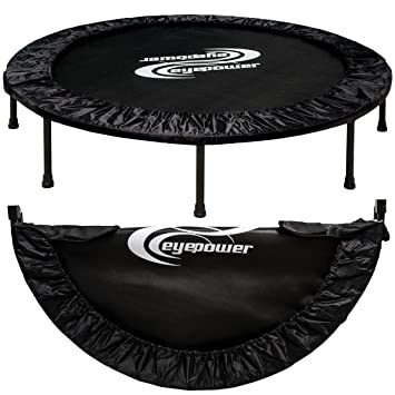 Eyepower 11987 - Cama elástica plegable (aprox. 140 cm, hasta150 kg, 8 patas estables, acolchado de seguridad en todo el contorno)