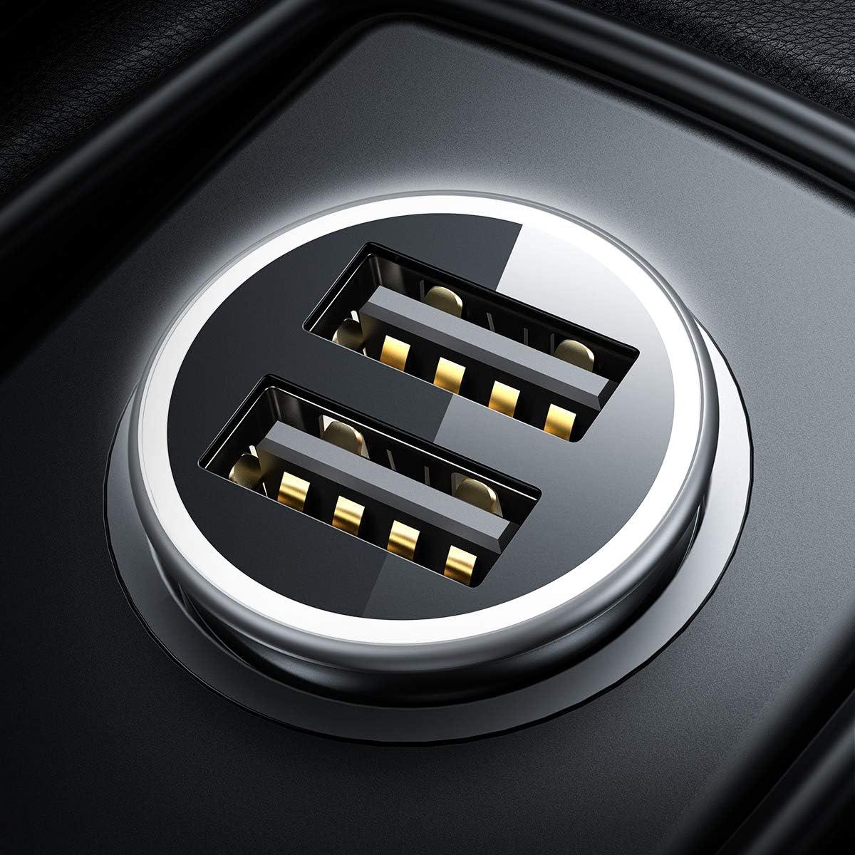 zhibeisai Caricabatteria da Auto Doppia di plastica Auto USB Charging Adapter con Ricarica per Auto Digitale voltmetro Accessori Automotive Blue Blue