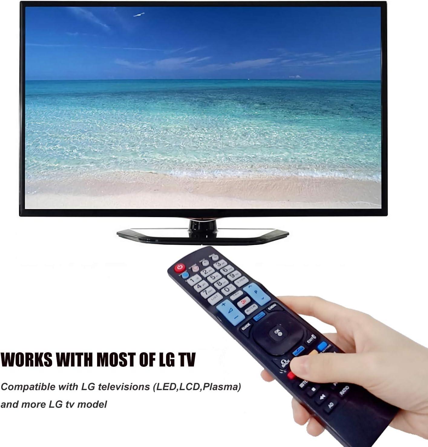 Nuevo Mando a Distancia el LG TV Reemplazo el Control Remoto para LG Smart TV, Universal Mando a Distancia de Repuesto para LG 42LE4500 AKB72914209 AKB74115502 AKB69680403: Amazon.es: Electrónica