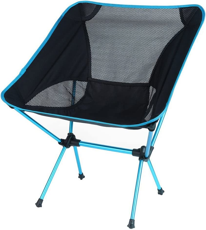 OUTAD Camping Fishing Folding Chairs with Portable Carrying Case, Ultralight Easy Folding for Hiking, Sporting, Touring, Picnic, Outdoor Events, Comfortable Highback Design, Travel Chair