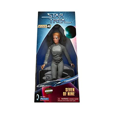 "Star Trek Collectors' Series Edition: Seven of Nine, 9"" Poseable Action Figure in Cloth Uniform: Toys & Games"