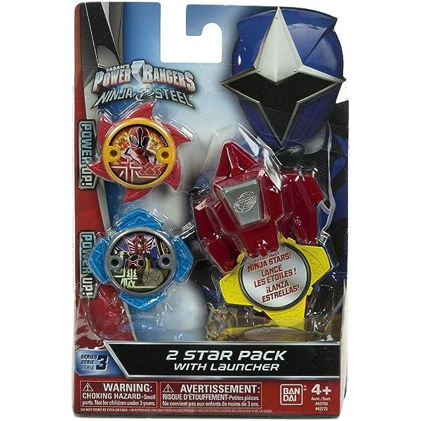 Power Rangers Pack de Estrellas 43772 con Lanzador: Amazon ...