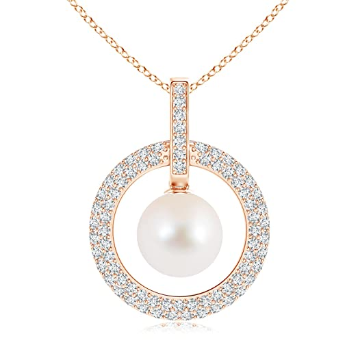 Angara Two Stone Diamond Open Circle Swirl Pendant c1hH0xdU5