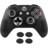 Xbox One S Controller Skin Case Cover, MoKo Anti-Slip Silicone Protective Case with 4PCS Joystick Caps for Xbox One S…