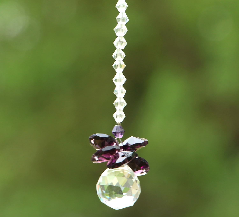 hierkryst Chandelier Cut Crystals Ball Window Prisms Rainbow Octogon Chakra Suncatcher