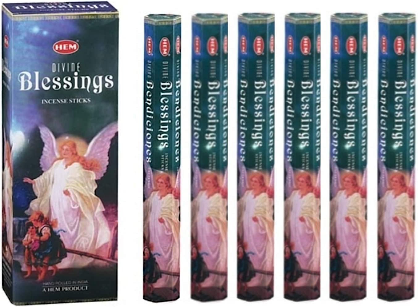 Divine Blessings - Box of Six 20 Stick Tubes - HEM Incense