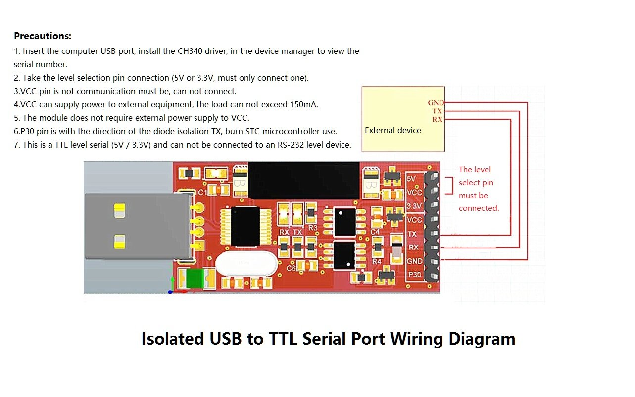 Knacro Isolated Usb To Serial Module Fully E Cig Wiring Diagram Ttl Port Ch340 Ft232 Home Audio Theater