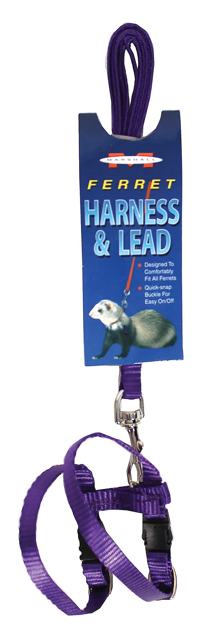 MARSHALL PET PRODUCTS 572018 Ferret Harness & Lead Purple, 48 in by Marshall Pet Products