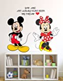 Wallstick Happy Micky wallsticker (Vinyl 70 cm x 60 cm)