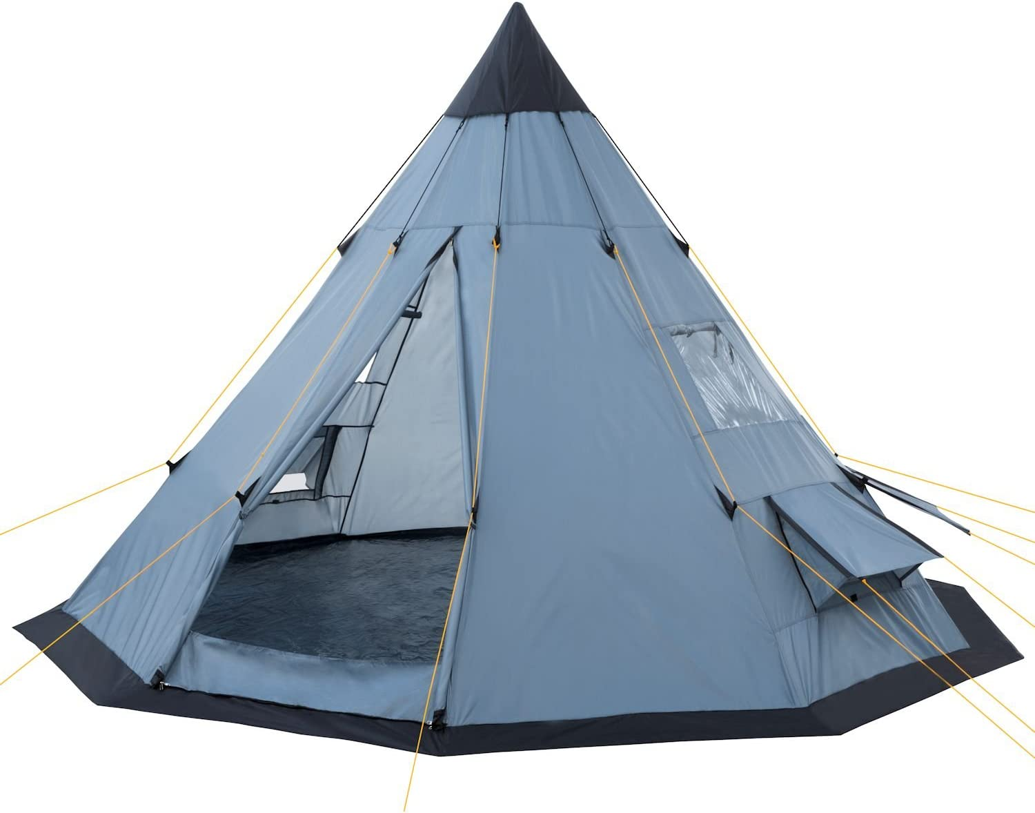 CampFeuer® Tipi Teepee Tent, greyblue