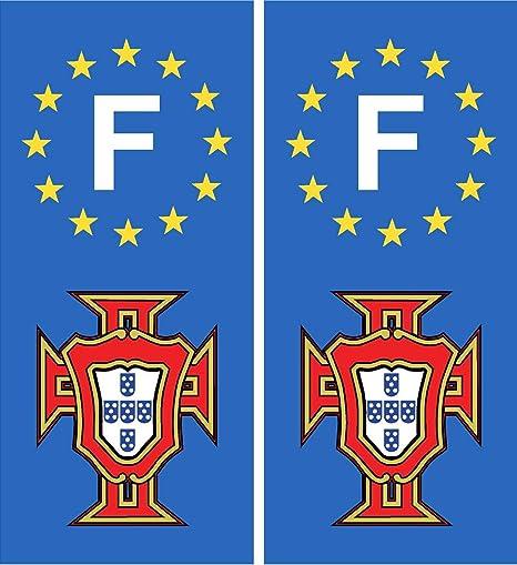 Pegatina para placa de matrícula de coche, escudo portugués ...