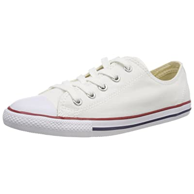 Converse Women's Dainty Canvas Low Top Sneaker, White, 5 M US | Fashion Sneakers