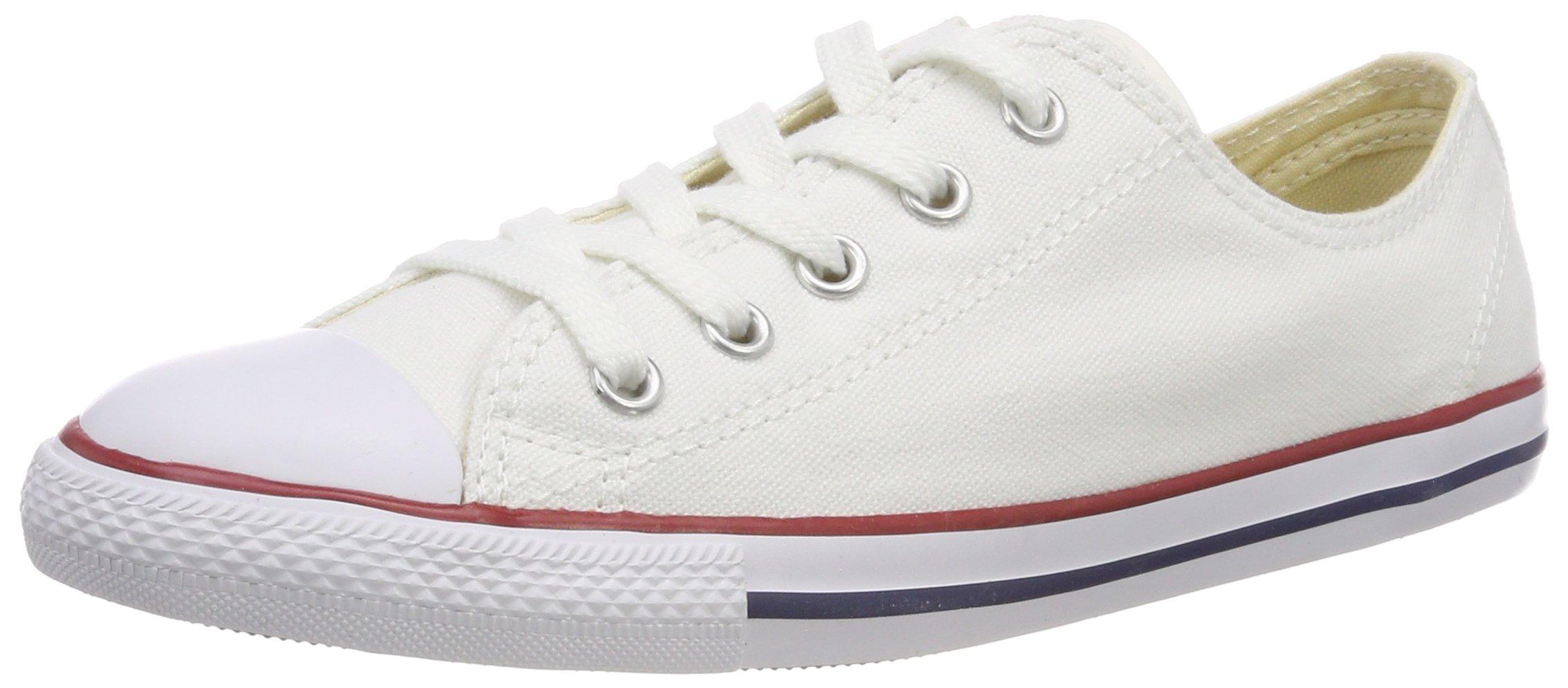 Converse Women's Dainty Canvas Low Top Sneaker, White, 10 M US