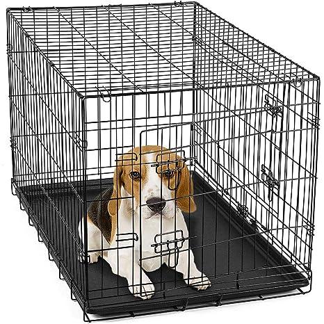 Ubravoo - Jaula Plegable de Metal para Perros y Gatos con Puerta ...