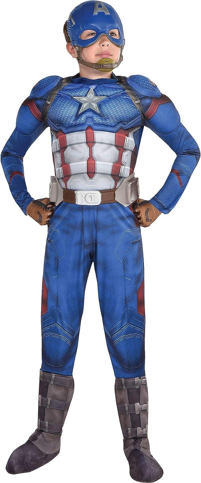 Party City Avengers: Disfraz de Capitán América para niños ...