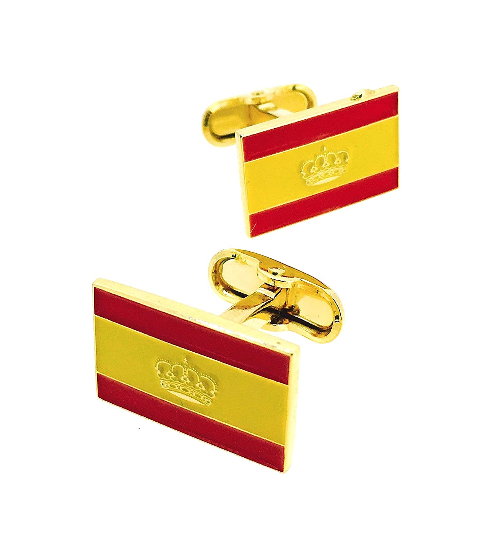 Gemelos de Camisa Bandera de España Naútica: Amazon.es: Ropa y ...