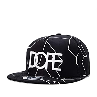 New Bone Gorras Planas Snapbacks Hot Style Masculino Feminino Dope Print Flat hat Baseball Cap Hip