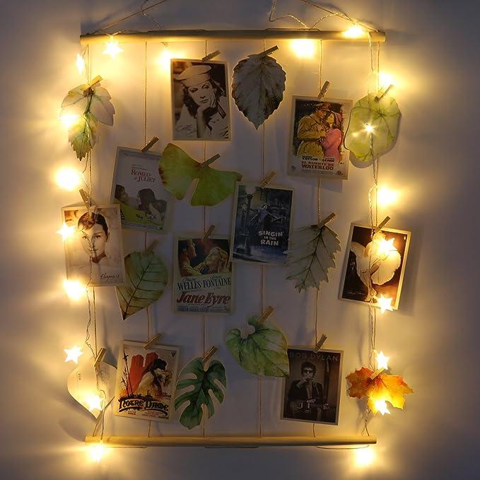 fourHeart Múltiples Foto Marco de la foto Fotos del collage 12 palos 6 tarjetas postales (Foto frem + Cadena ligera) El mejor regalo para el Día de San Valentín: Amazon.es: Hogar