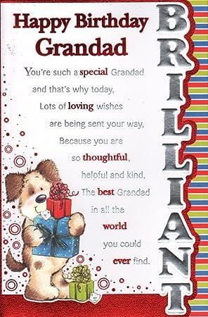 Grandad Birthday Card Happy Birthday Grandad Amazon Office