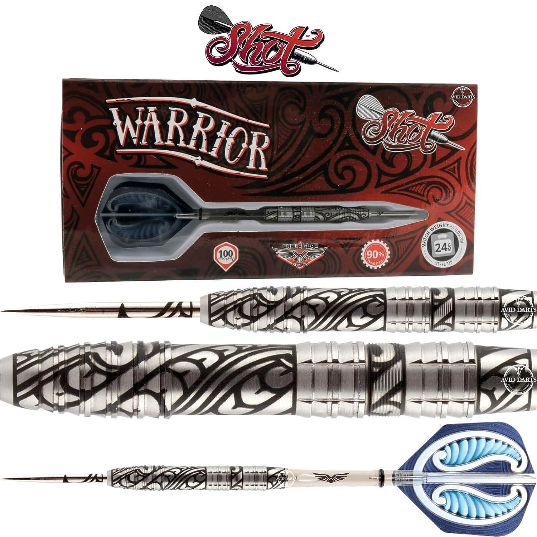 26.0 Gramm Shot  Darts Warrior DartSet mit Stahlspitze, Mittelgewichtet, 90% Wolfram Barrels