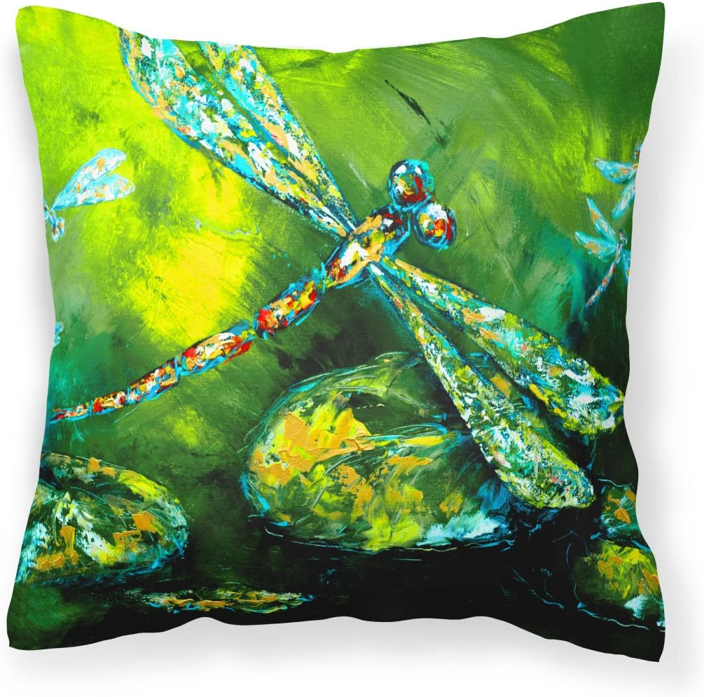 Caroline s Treasures MW1128PW1414 Insect – Dragonfly Summer Flies Canvas Fabric Decorative Pillow, 14Hx14W, Multicolor