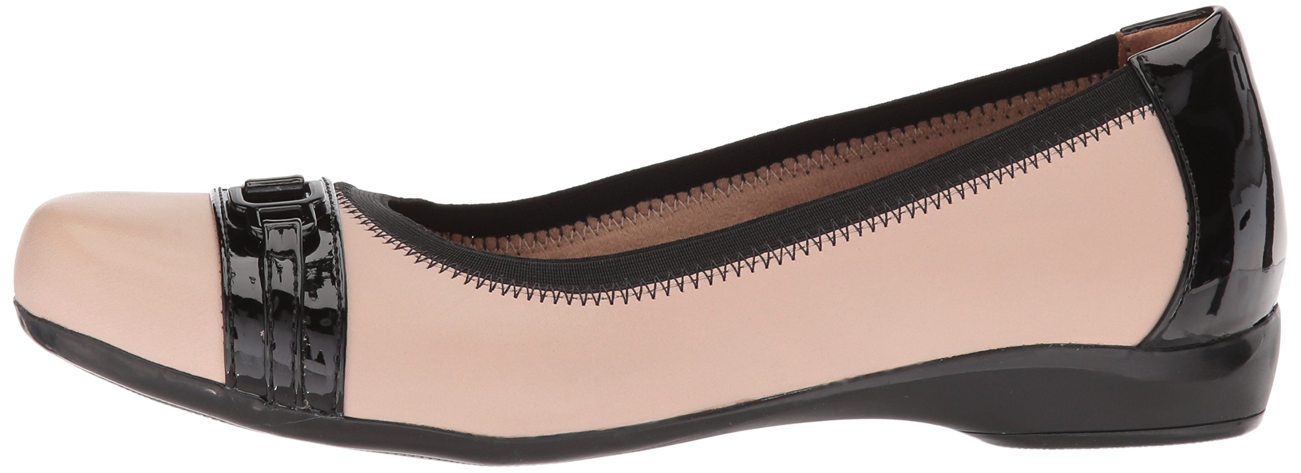 CLARKS Women's Kinzie Light Loafer Flat, Cream Leather/Synthetic Patent, 12 Medium US by CLARKS (Image #5)