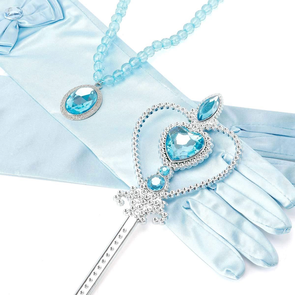 loel Princess Inspired Girls Snow Queen Party Costume Dress