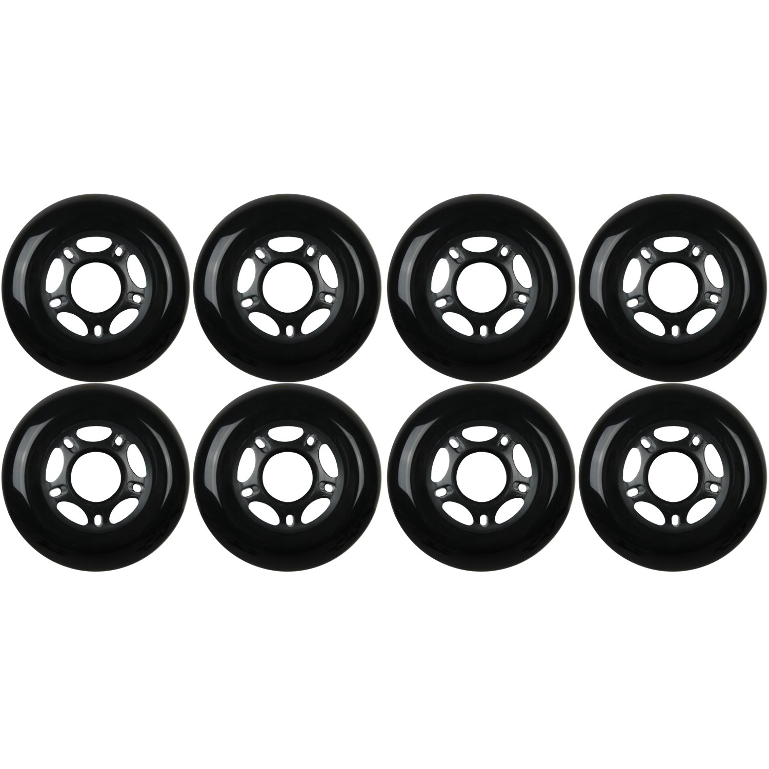 KSS Outdoor Asphalt Formula 89A Inline Skate X8 Wheels, Black, 76mm