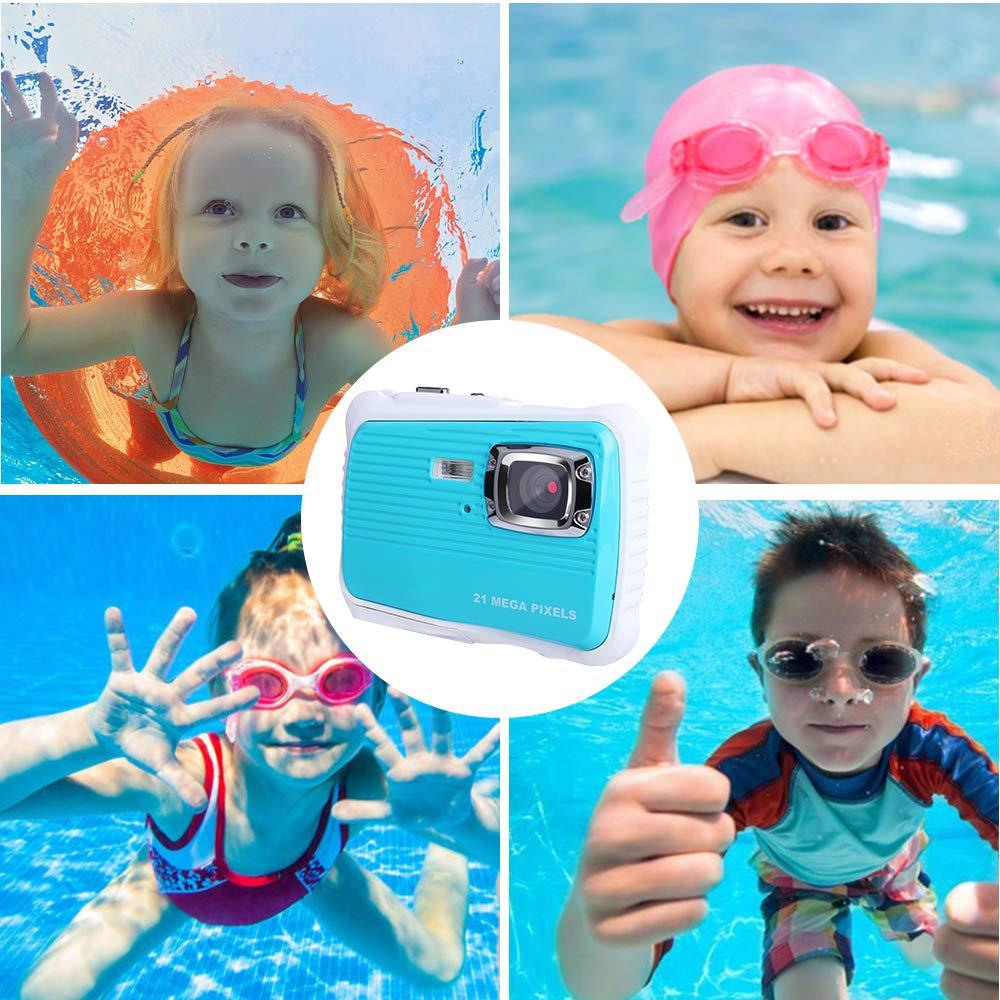 Waterproof Digital Camera Kids 8X Digital Zoom, Kids Digital Camera 21MP HD Underwater Action Camera Camcorder 2.0 inch LCD Screen, Free 16GB Memory Card by Adoreco (Image #5)