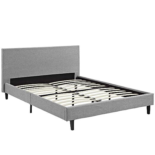 9d4099ce53cdd Amazon.com  Modway MOD-5420-LGR Anya Bed Frame