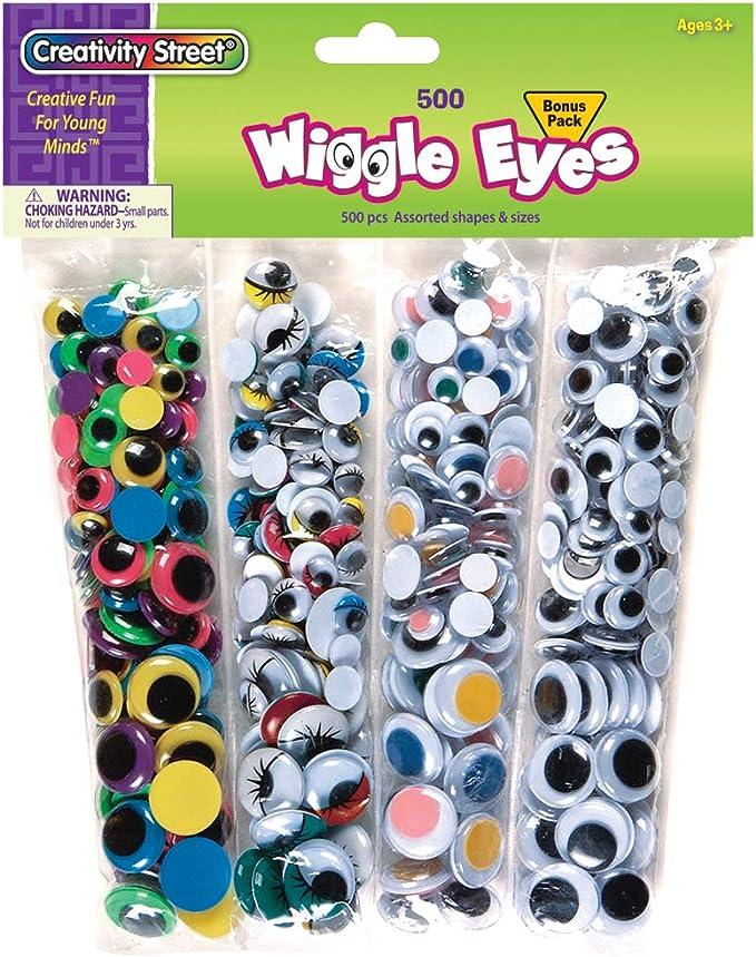 Creativity Street Wiggle Eyes Multi Pack 500 Piece Pack Ac3435 Home Kitchen Amazon Com
