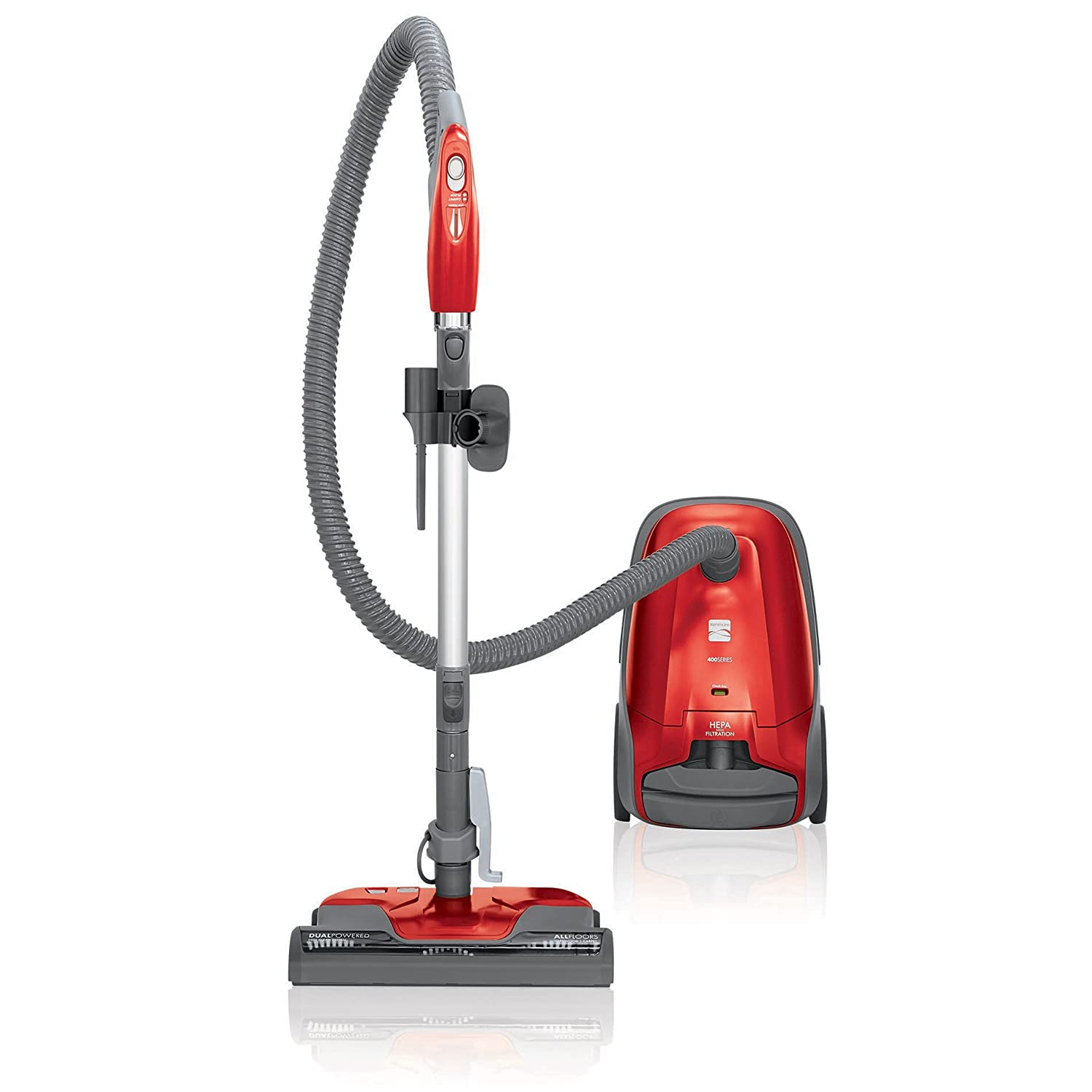 Kenmore 81414 Multi-Surface Bagged Canister Vacuum Cleaner with Cord Rewind and Extended Reach, Cherry
