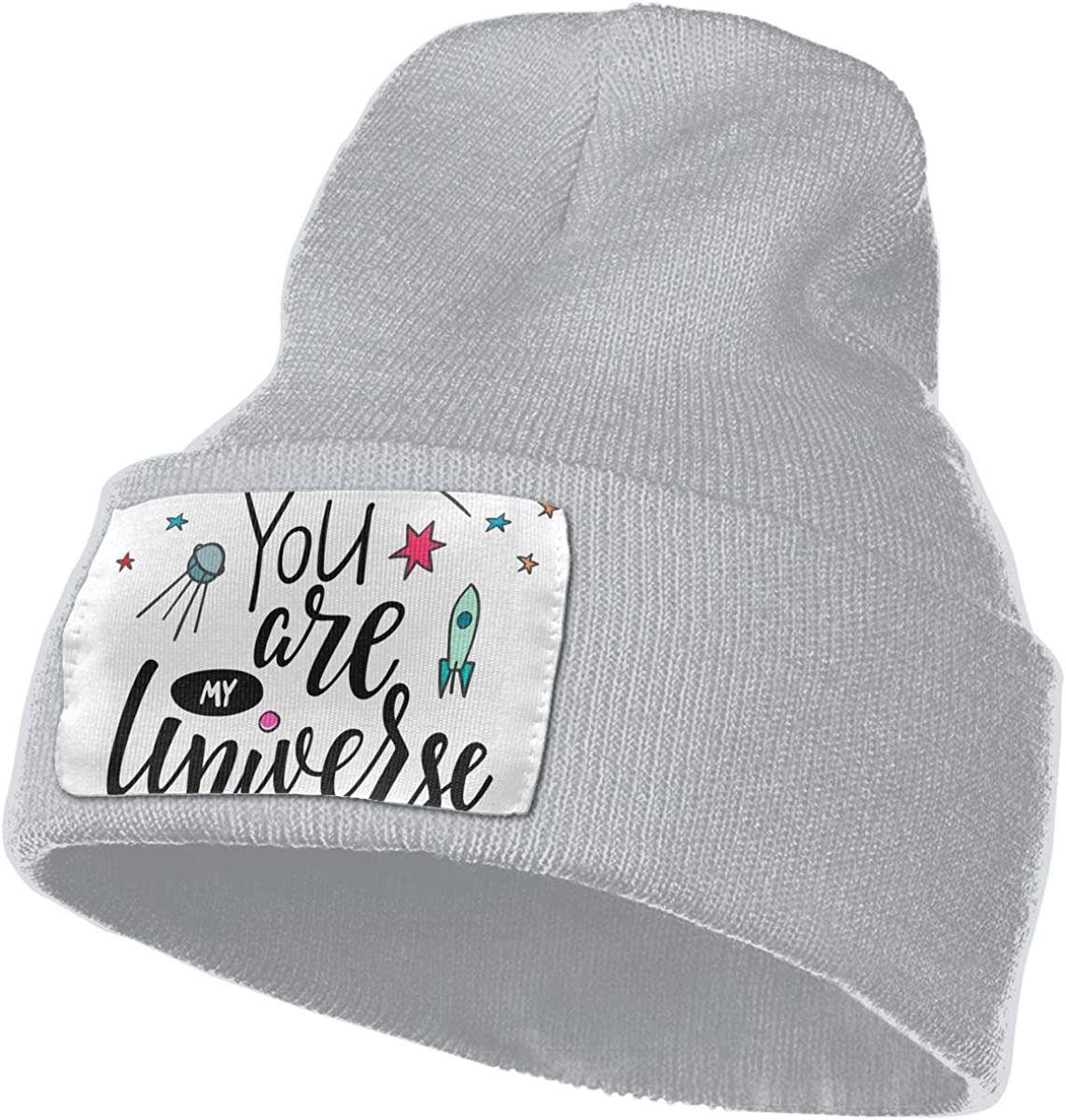 Romance and Universe You are My Universe Unisex Fashion Knitted Hat Luxury Hip-Hop Cap Love