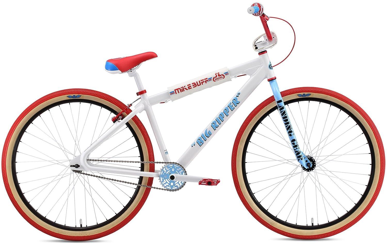 Se Mike Buff Big Ripper 29インチBMX Bike – 2018 B074KSYG48  ホワイト 29