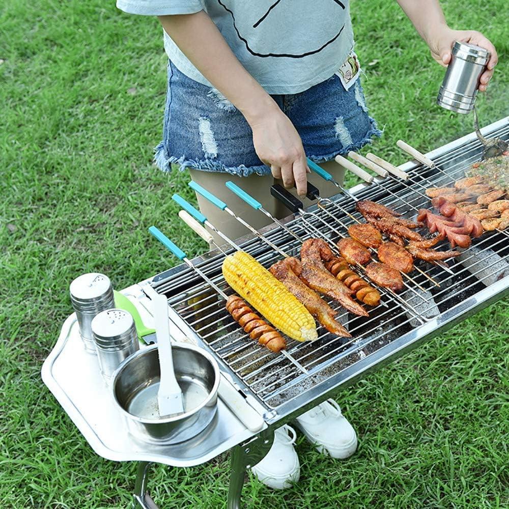 Wghz 401 Barbecue en Acier Inoxydable pour Barbecue Pliant au Charbon de Bois avec poignée et Grillage en Acier Inoxydable pour Pique-Nique Jardin Terrasse Camping, BBQ Shelf