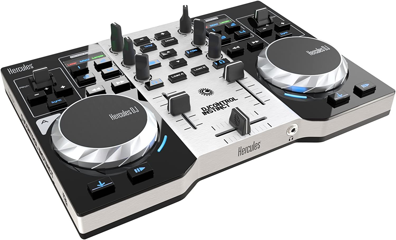 Hercules 4780833 - Controlador DJ (USB, 1.5 GHz, 1 GB), color plateado y negro: Hercules: Amazon.es: Instrumentos musicales
