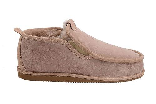 0ae72f7e4 Mens Genuine Sheepskin Leather Luxury Moccasin Slippers Warm Wool Lining W75