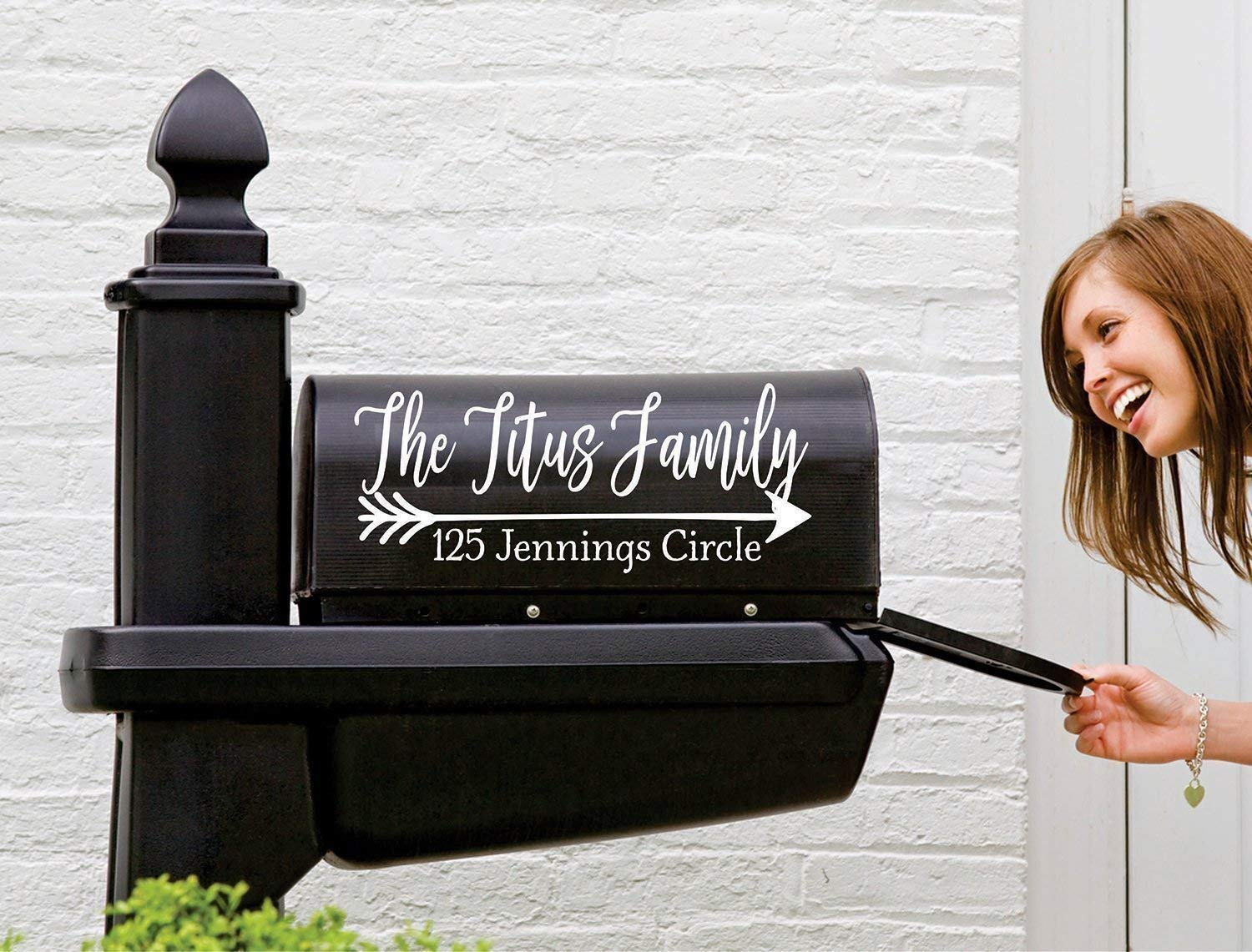 Name Decal for Mailbox Personalized Mailbox Decal Mailbox Number Sticker Set of 2 Farmhouse Mailbox Decal