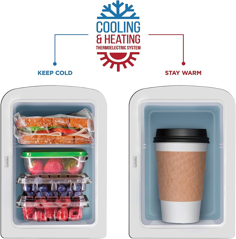 Chefman Mini Portable Blue Personal Fridge Cools Or Heats
