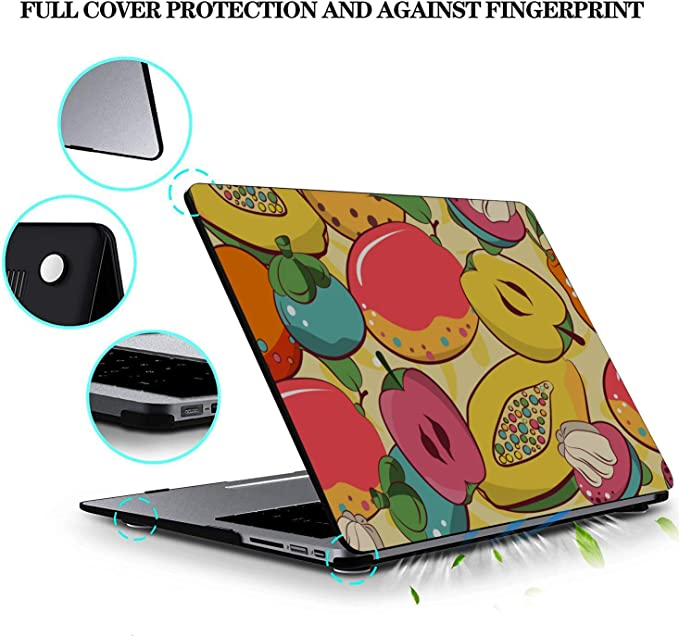 MacBook Pro A1708 Case Summer Tropical Cute Papaya Fruit Plastic Hard Shell Compatible Mac Air 11 Pro 13 15 Laptop Shell Case Protection for MacBook 2016-2019 Version