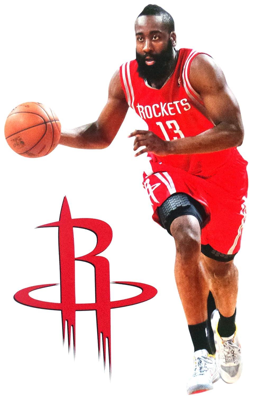 22bf39e4053e Amazon.com   FATHEAD James Harden Mini Houston Rockets Official NBA Vinyl  Wall Graphic 7