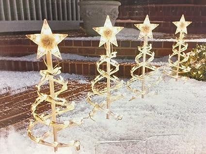 Amazon.com: 18in Spiral Tree Pathway Lights Christmas Lawn Yard ...
