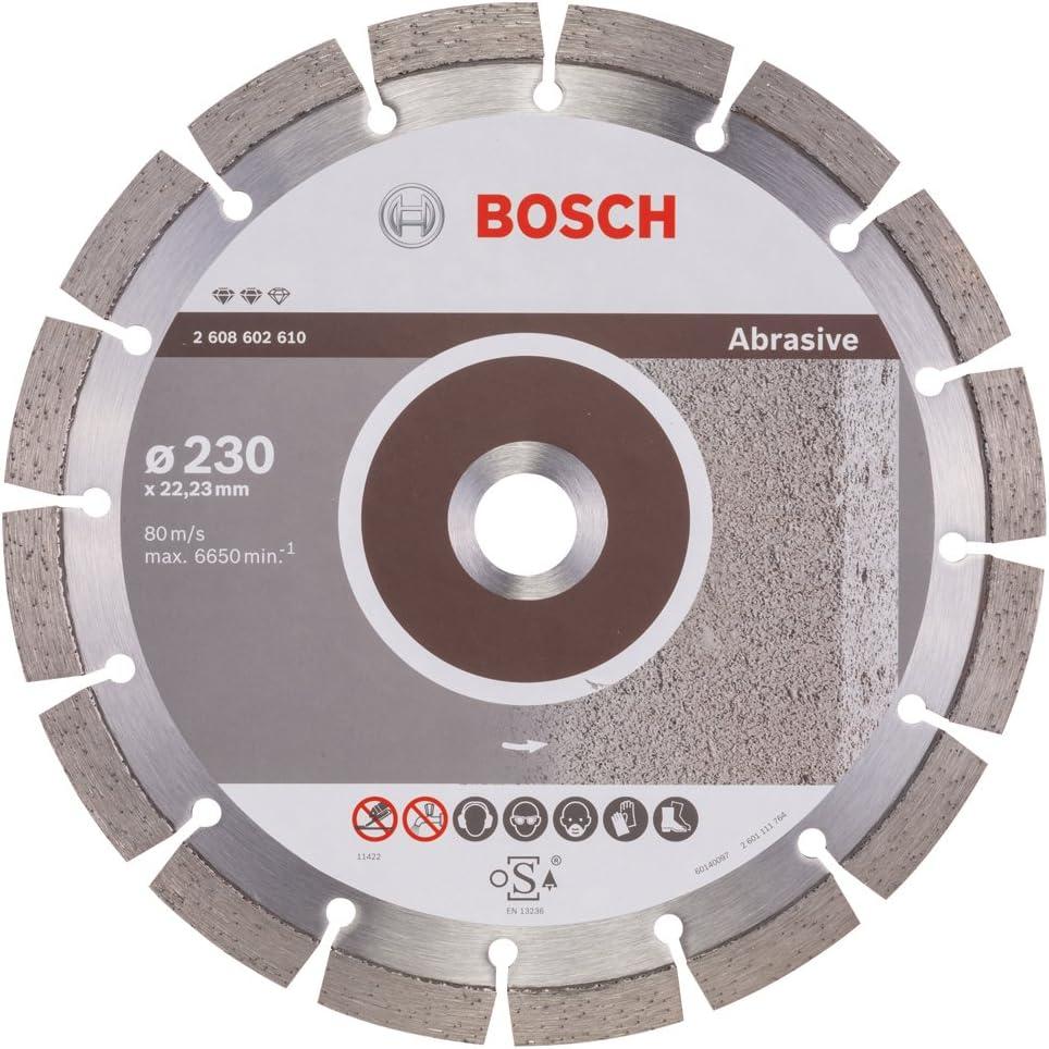 Bosch 2608602610 230 x 22,23 x 2,4 x 12 mm Disco da taglio diamantato Expert per Abrasive