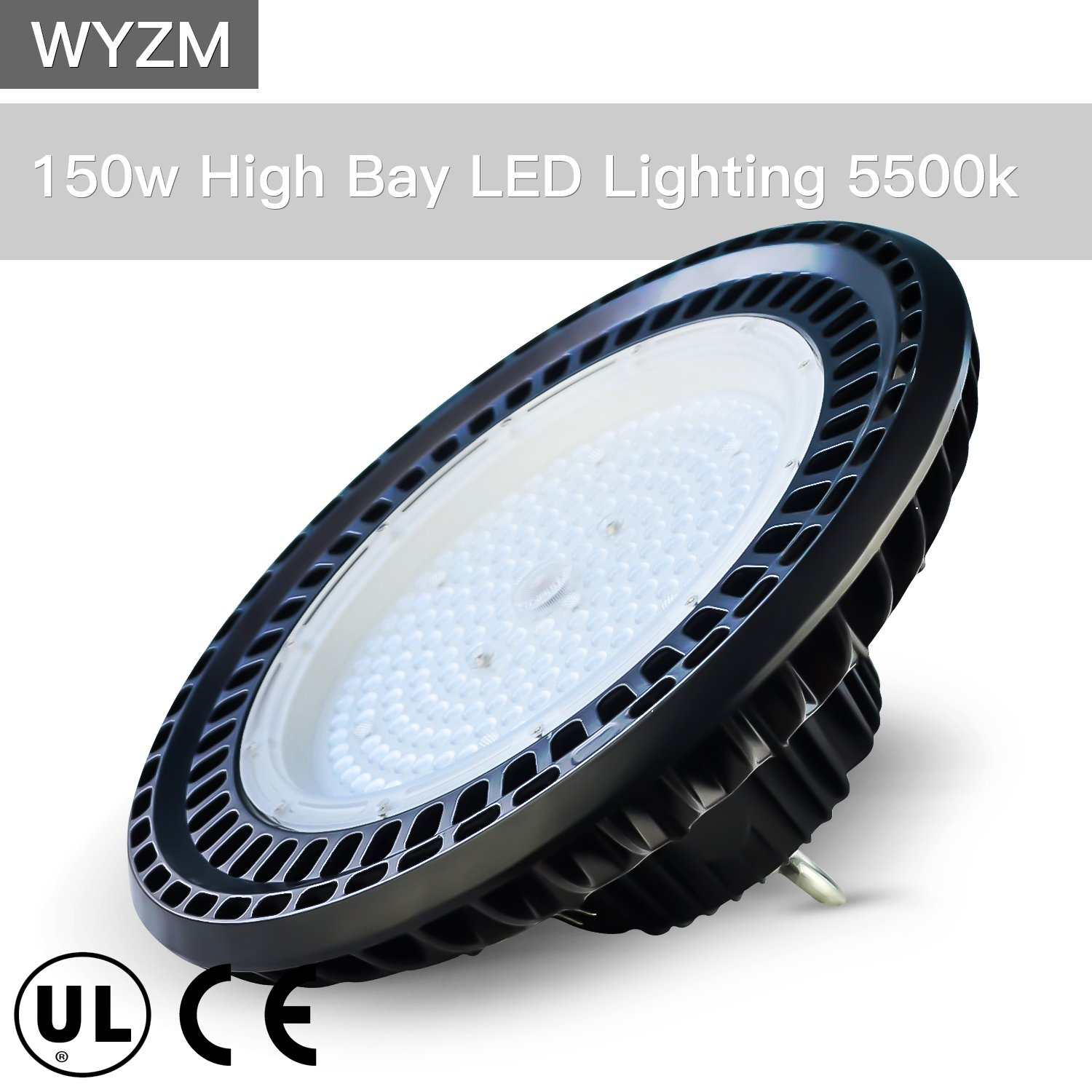 150W High Bay LED Lighting,Works From 110V to 277V,600W HPS or MH Bulbs Equivalent,Great Garage Shopping Mall LED High Bay Lights(150 Watts) by WYZM
