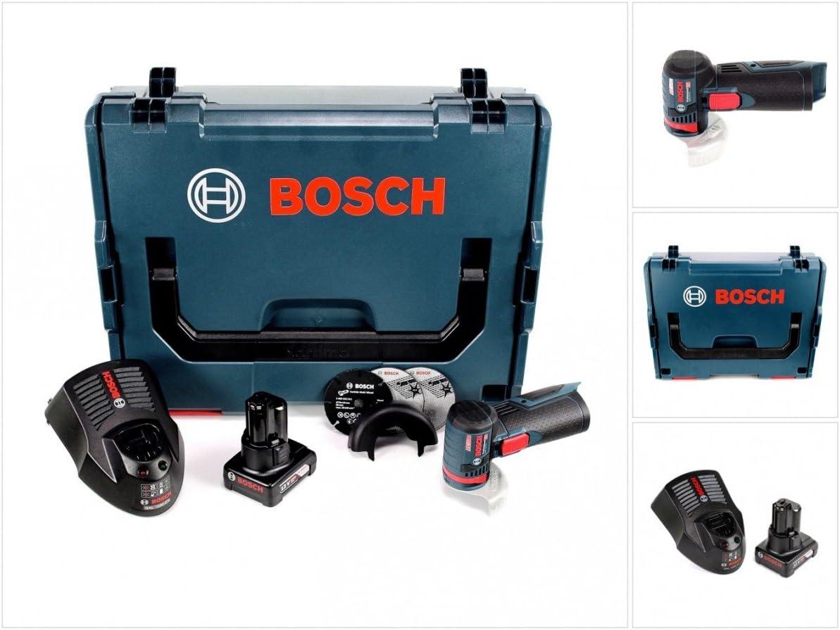 Bosch GWS 12V de 76Professional batería Amoladora de ángulo en L-Boxx con 1x GBA 6,0Ah Batería + 1x Gal 1230Cargador