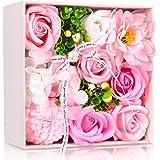 Immortal ソープフラワー 創意方形ギフトボックス 誕生日 母の日 記念日 先生の日 バレンタインデー 昇進 転居などに最適