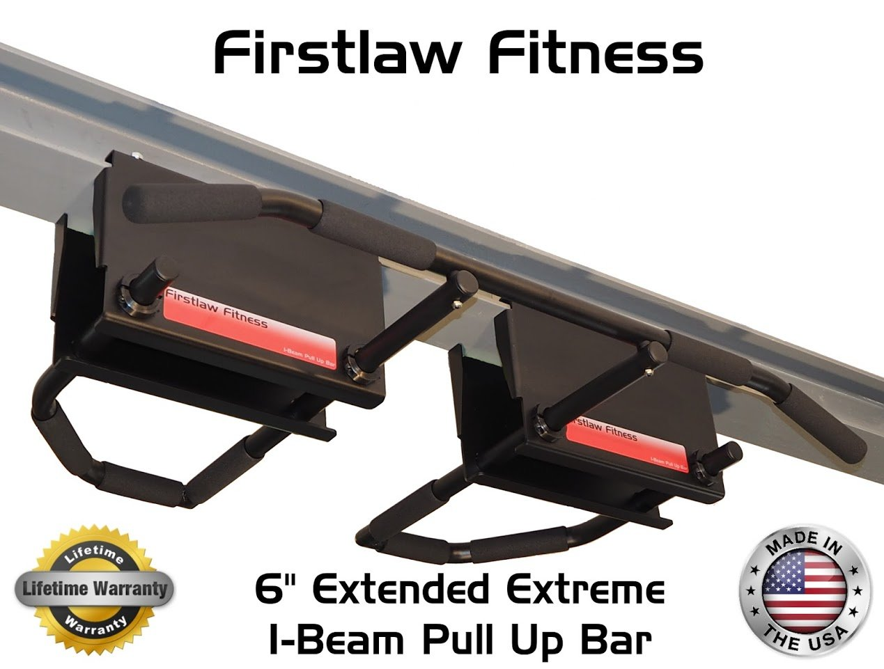6'' Extended Extreme I-Beam Pull Up Bar - (Long Bar with Bent Ends) by Firstlaw Fitness (Image #4)