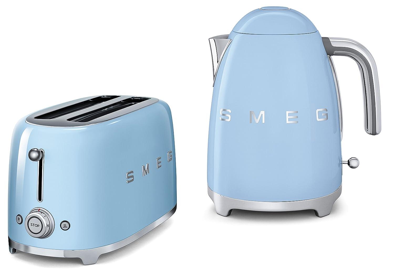 Smeg TSF02PBUK KLF01PBUK | 50s Retro Style 4 Slice Toaster & Kettle ...