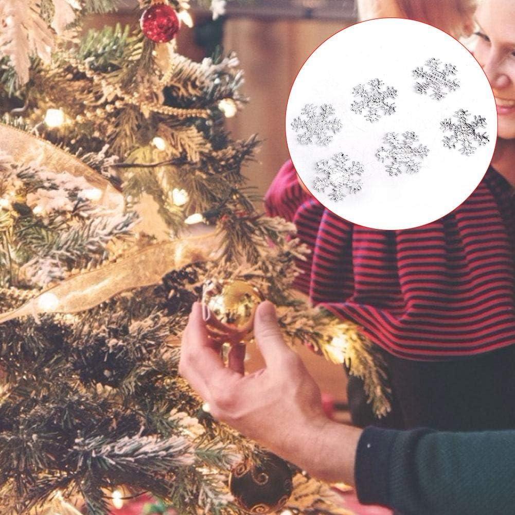 HEEPDD 300Pcs Coriandoli di Fiocchi di Neve di Natale Coriandoli Fiocchi di Neve Argento 25mm AB Shimmer Snowflakes Cake Table Confetti Holiday Accessorio Decorativo per Matrimonio Invernale Festa