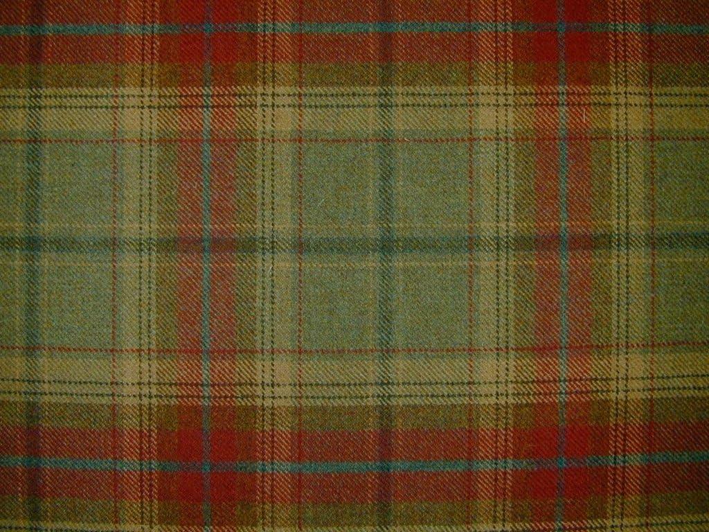 Brown//Grey 100/% Wool Curtain//Furnishing Fabric Made In England.